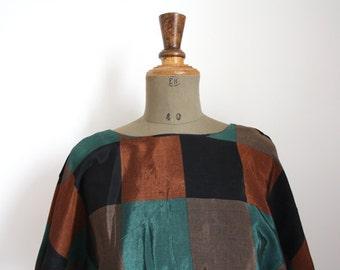 1970s dress // Color block dress