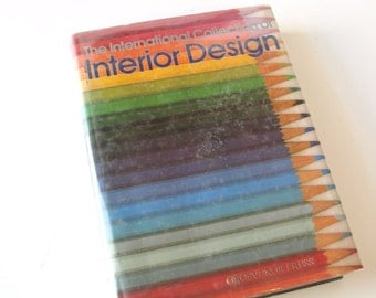 80s vintage decorating reference book - The International Collection of Interior Design