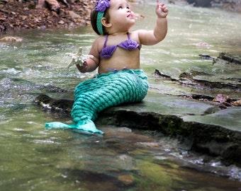 Crochet Mermaid, Crochet Mermaid Outfit, Crochet Baby Mermaid, Baby Girl, Mermaid Outfit, Mermaid Costume, Baby Mermaid Tail, Mermaid Tail