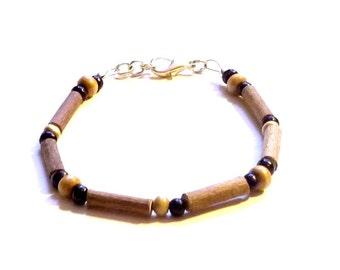 Hazelwood Bracelet Black  Black & Wood Therapeutic - (Bracelet or Anklet)