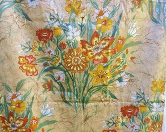 """Gabrielle Cie Woven Linen Fabric, Mod Flower Print, 2 3/4 yd x 54"""""""