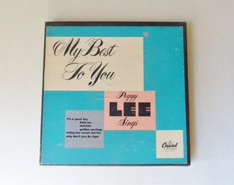 Peggy Lee Boxed Set, Three 45 RPM Records, My Best to You