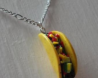 Taco Necklace - Handmade Polymer Clay