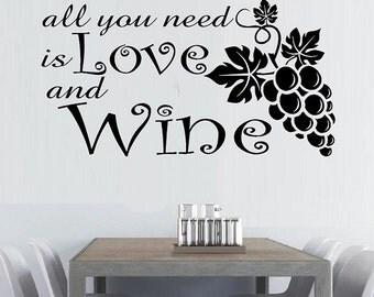 Wall stickers decor australia wine