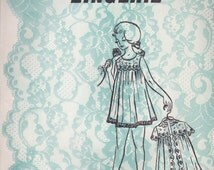 Girls' Robe & Nightgown Pattern Let's Make Lingerie 220 Sizes 8 - 12 Uncut