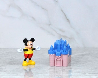 Vintage Blockbuster Exclusive Walt Disney Mickey Mouse And Blue Castle Toy 1996, Walt Disney World, Blockbuster Video, Disneyland, Mickey