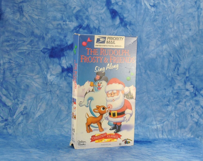 Vintage The Rudolph, Frosty and Friends Sing Along From The Christmas Classic Series, Santa, Reindeer, Christmas Tree, Snow, Winter, Toys