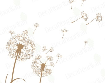 Dandelion Wall Decal Dandelion Seeds Flower Wall Decals Living room Stickers Nursery Bedroom Wall Art Home Decor Removable Vinyl Sticker