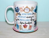 Alice In Wonderland Mug, Alice Through The Looking Glass, Mad Hatters Tea Party, Cup, UK