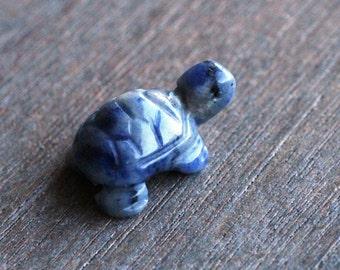Sodalite Stone Turtle Figurine F79