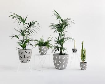 Concrete Planter - Confetti Range - Sizes M, L and XL
