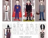 Halloween Kids Pattern - Digital Download