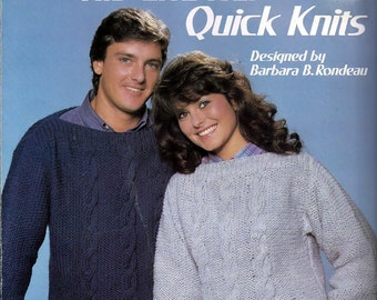 His and Her Quick Knits Pattern Booklet Leisure Arts 376