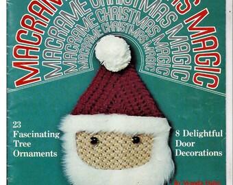 Macrame Christmas  Magic Macrame Pattern Book Craft Publications 7269