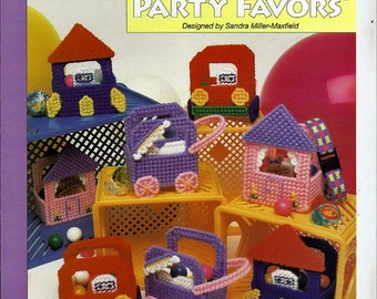 Birthday party Favors Plastic Canvas Collector's Series Pattern The Needlecraft Shop 400232