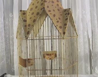 Vintage Victorian large metal birdcage