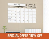 Dry Erase Wall Calendar - Dry Erase Decals - by Simple Shapes