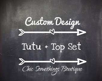 Custom Designed Tutu and Top Set, Prior Approval Needed to Purchase This Listing
