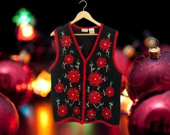 Ugly Christmas Sweater Tacky Christmas Sweater Holiday Sweater Christmas Vest Plus Size Vest Plus Size Clothing Plus Size Clothes Hipster