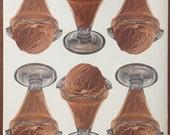 Vintage Ice Cream Advertisement Poster