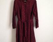 Vintage Ladies Raincoat, Rainmaster Ritchie Sports Togs, Vintage Treated Fabric Raincoat, Umbrella Print Raincoat
