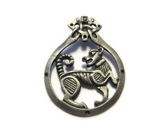 Pewter Celtic Cat Pendant