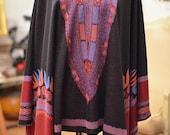 African Print Knit | Winter Cape | Winter Shawl | Dashiki Print Knit wear | New Knit | Blanket Wrap| ANGELINA WINTER KNIT | Wool Blend Shawl