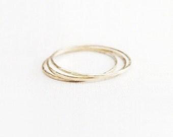 pyram - 14k yellow gold skinny rings/ stacking rings/ gold rings/ thin gold rings