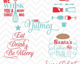 80% OFF Sale Svg Cuttables Christmas Quotes Cut Files Set SDD034