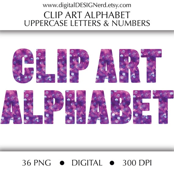 purple glitter letters numbers digital clipart 79 high clip alphabet purple amp blue bokeh uppercase letters and 209