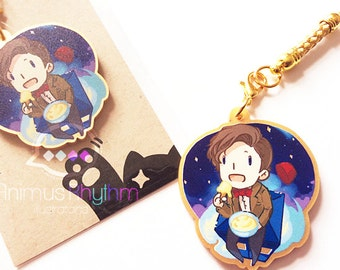 Golden Acrylic straps charm: Doctor Who, 11th Doctor, Matt Smith