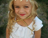 Greek Goddess Headband, Gold Leaf Headband, Gold Headband, Gold Headband, Leaf Headband, Adjustable Headband, Gold Leaves Headband,