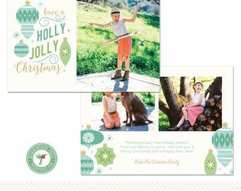 5x7 Christmas / Holiday Card Template - H58