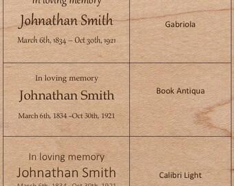 Custom Name Engraving