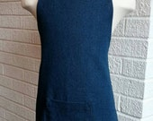 Kid's Denim Apron with Pocket - Can be Personalized, Indigo Blue Jean, Free Shipping, Made in The USA