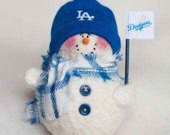 Los Angeles Dodgers Snowman Ornament
