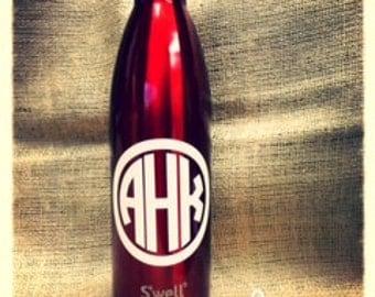 Monogram~ Swell Bottle~ Personalize it~ Great Gift Idea