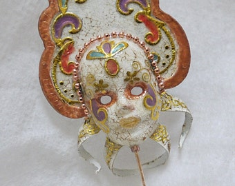 Dollhouse Miniature Accessory Venetian Masquerade Carnival Mask 1/12th Scale