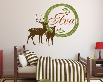 Personalized Deer Decal, Hunting Wall Decal, Deer Decor, Hunting Decor, Nature  Wall Part 38