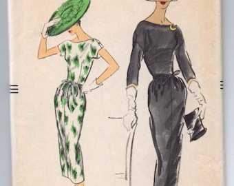 "1950's Vogue One-Piece Dress Pattern - Bust 32"" - No. 9030"