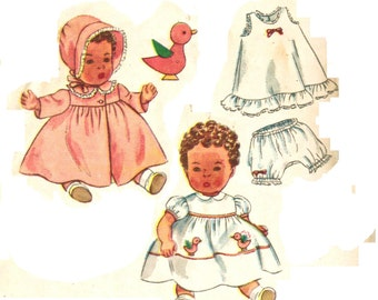 Simplicity 3406 Or Butterick 2520 Adorable Vintage 50s & 60s Baby Doll Clothes Wardrobe Sewing Pattern 12 Inch or 23 inch