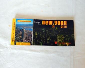 New York City Postcard Vintage Album Book Big Apple Collectible Post Cards