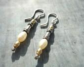 Pearl Earrings, Sterling Silver, 14k Gold Fill