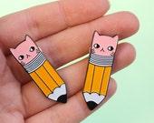 Pencil Kitty Soft Enamel Pin