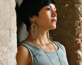 Tullia Statement Earrings Tribal Earrings Boho Earrings