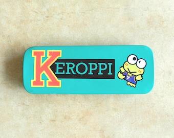 90's KEROPPI PENCIL CASE - Sanrio / Kerokerokeroppi / Hello Kitty / Collectible / Rare