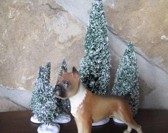 Boxer Dog Statue, Figurine, Porcelain, Docked Tail, Show Dog Pose, Show Dog, Dog Figurine, Boxer, Male, Statue, Porcelain, Painted