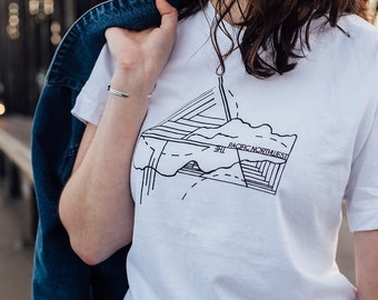 Pacific Northwest Classic White T-Shirt on American Apparel