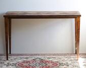 Herringbone Modern Desk - Mid Century Modern Desk - Bohemian Furniture - Modern Home - Desk - Wooden Desk - Office Remodel - Handmade Desk