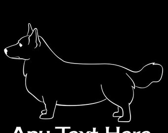 Cardigan Welsh Corgi Stacked Vinyl Car Decal